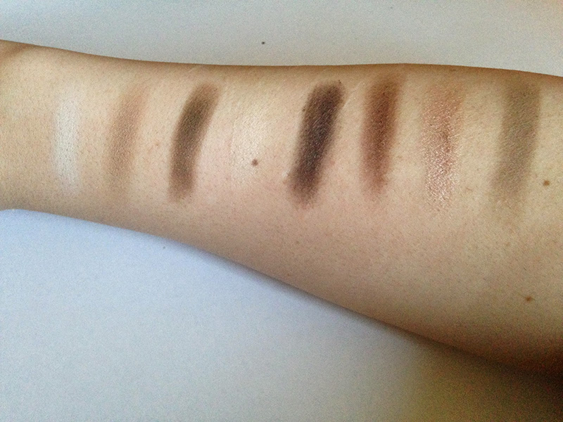 NYX Book of Smokey Collections Natural Smokey Swatches