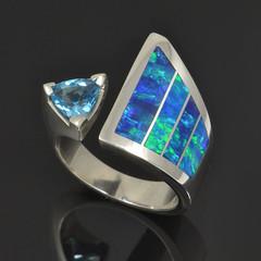 Topaz Lab Opal Ring with Topaz