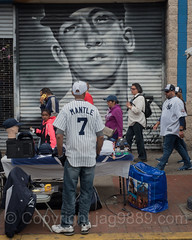 Mickey Mantle Canvas Painting near Yankee Stadium, The Bronx, New York City