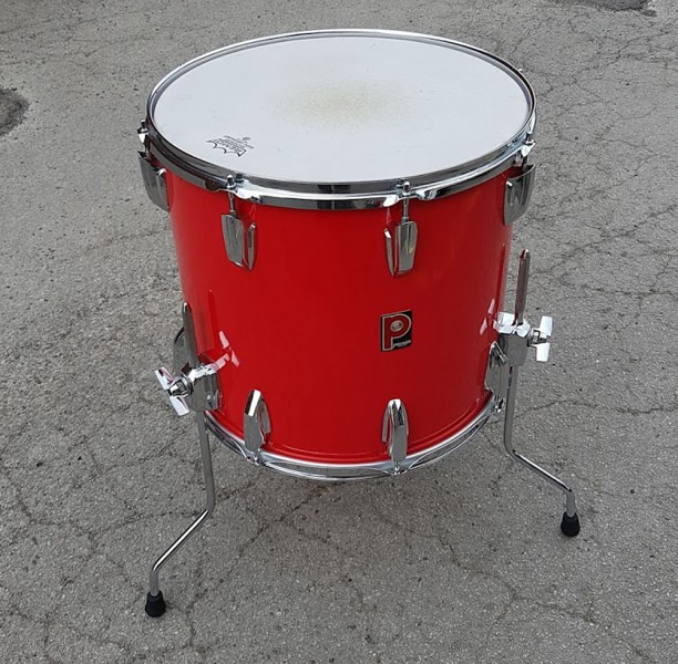 Premier 12 x 16 projector series red floor tom used for 16 x 12 floor tom