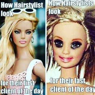 The struggle is real. Happy Friday!! @ryanpatricksalon #hairstylist #problems
