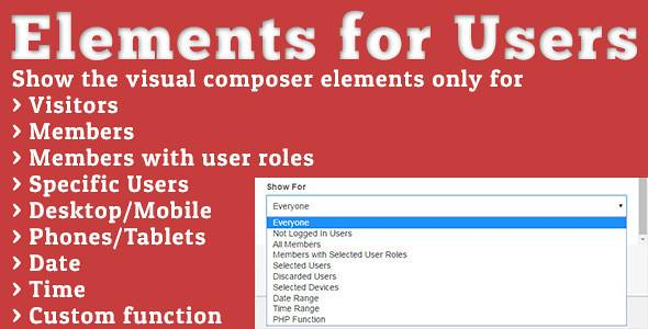 Elements for Users Visual Composer Addon free download