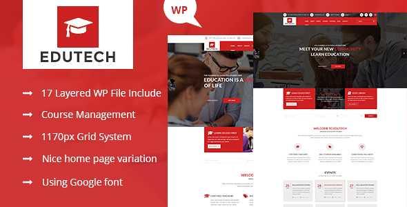 Edutech WordPress Theme free download
