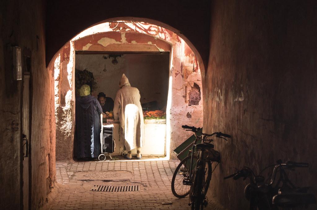 Marrakech - City trek - Le primeur de la médina