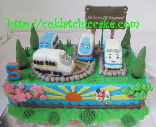 Kue ulang tahun dengan tema cake shinkansen model ini mulai dari harga