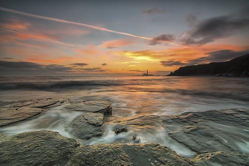 longexposure seascape sunrise nikon le slowshutter oldhartley d7100 tokina1116 cloudsstormssunsetsunrises wildaboutnorthumberland