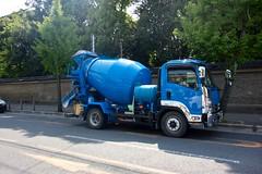 asphalt, commercial vehicle, vehicle, truck, transport, concrete mixer, light commercial vehicle,