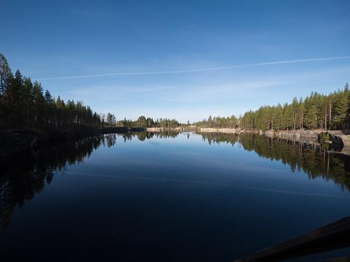 reflection suomi landscape mine quarry kuortane eteläpohjanmaa kaatiala panasonicgvario714mmf4asph panasoniclumixgh3 10barhousing