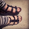 My beloved new sandals! This is the 4th day in a row I've worn them and already have put in 15 miles.