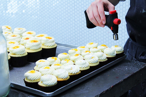 Creme Brulee Cupcakes in Action