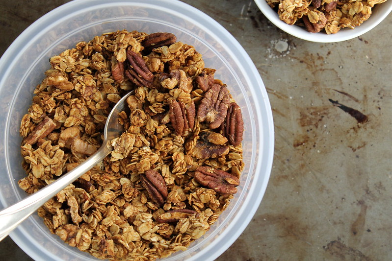 Banana Bread Granola - vegan, gf, and refined sugar free