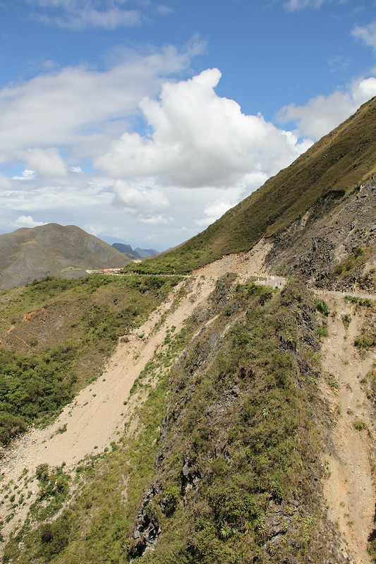 Landslides are not uncommon along the route
