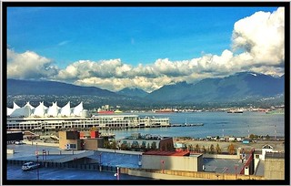 Vancouver BC Canada ~ From the Woodward Complex ~ Docking area for Cruise Ships ~  iPhone
