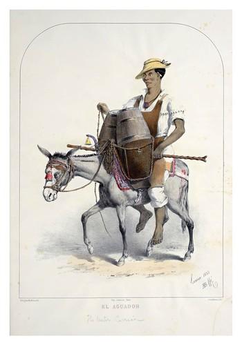 009- El aguador-Recuerdos de Lima, álbum, tipos, trajes y costumbres Vol 2-1857-Bonaffé A.A.