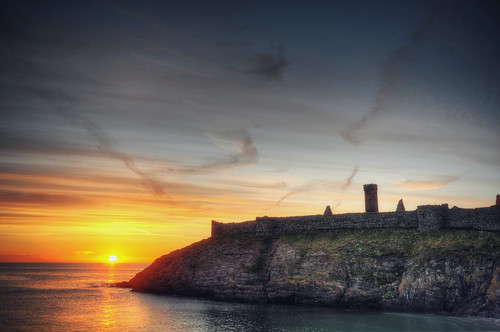Sunset at Peel Castle