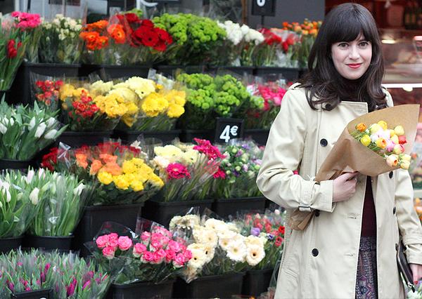 paris, le marais, flowers, fashion blog, בלוג אופנה, אפונה בלוג אופנה, פריז, פרחים