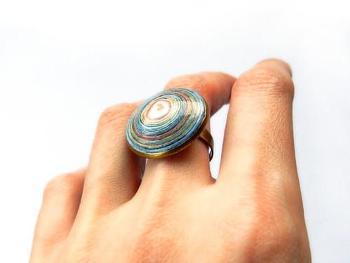 coiled paper ring