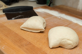 Split dough