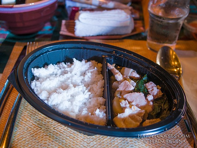 Hefty serving of rice and viand