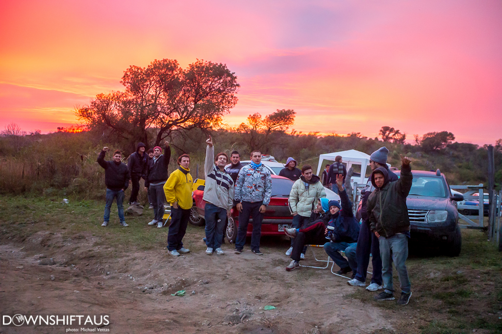 WRC fans line the stage during Heat 2 of Rally Argentina on stages south of Cordoba.