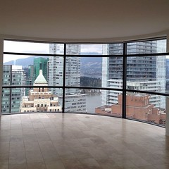 Window view of Downtown Vancouver