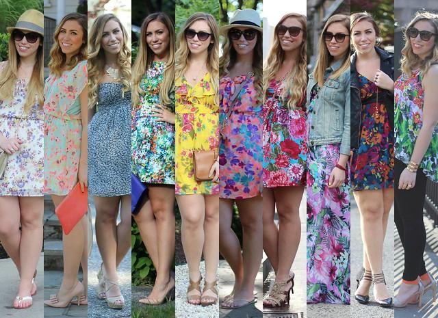 10 Ways to Wear Florals - #SpringStyle #SummerStyle on #LivingAfterMidnite
