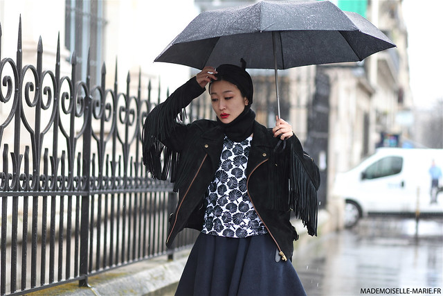 Fuyuri Kobayashi, Street Style at Paris fashion week
