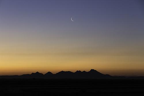 california sky moon canon6d