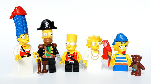 The Pirate Simpsons family
