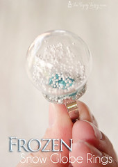 an easy tutorial to create your own snow globe rings