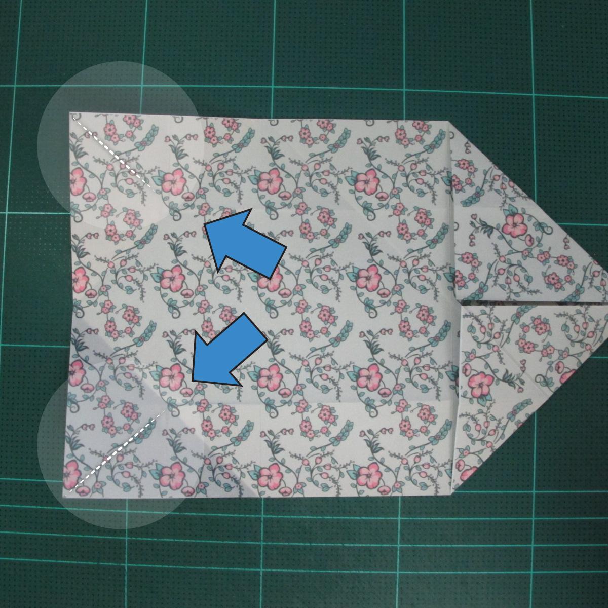 วิธีพับกระดาษรูปหัวใจคู่ (Origami Double Heart)  010
