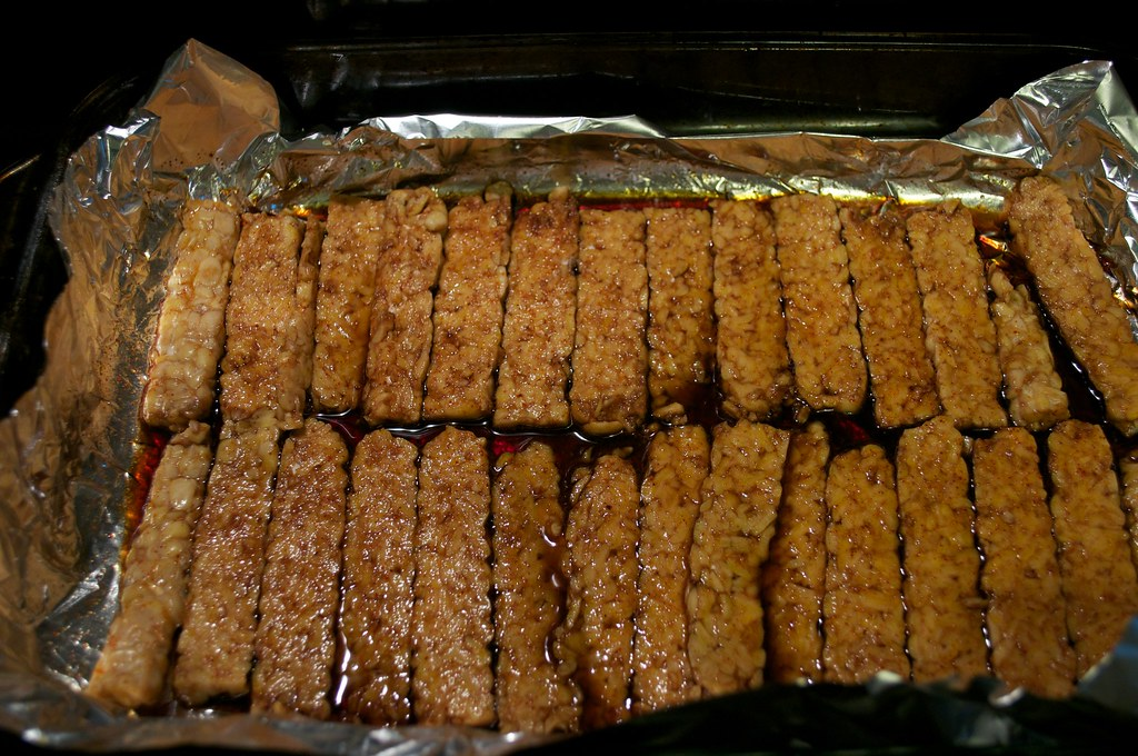 Marinating Tempeh Bacon