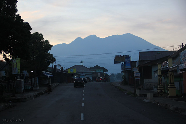 Lawu View in The Morning