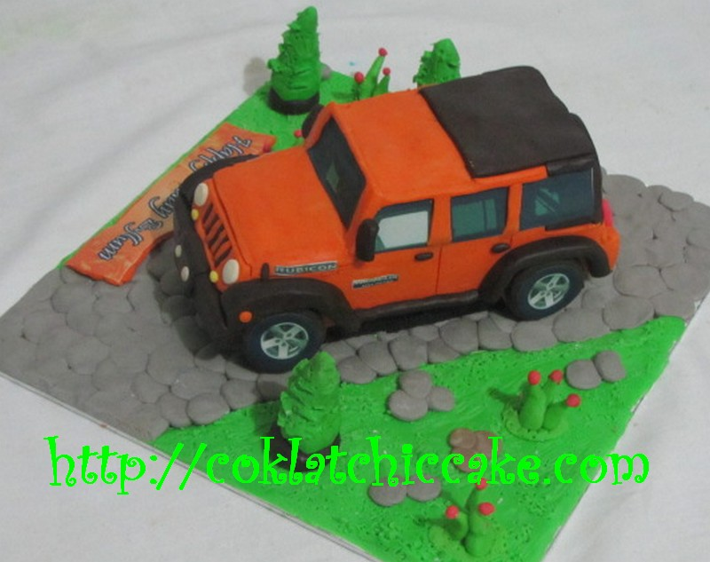 Kue ulang tahun Jeep Rubicon