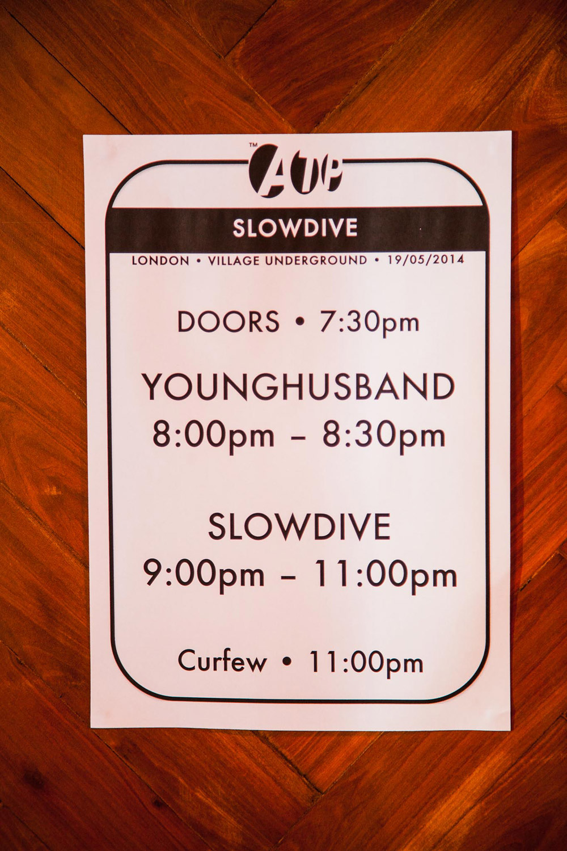 Slowdive @ Village Underground, London 19/05/14