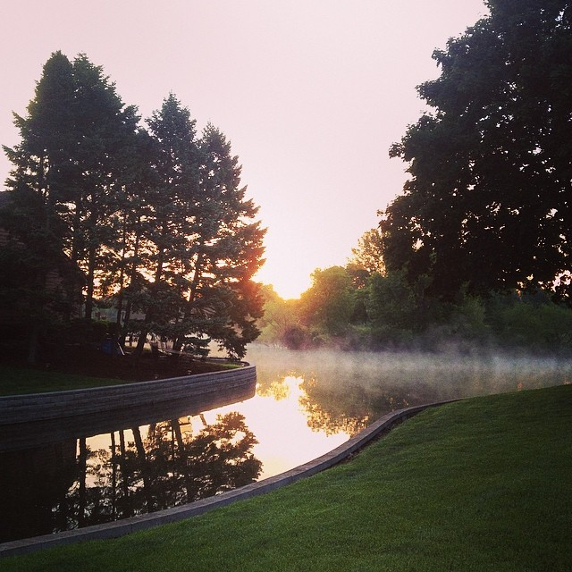 Morning Calm #shirleyruns #mist #water #seenonmyrun