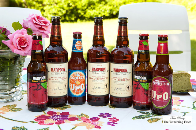 Harpoon Brewery's various crated beers and hard ciders