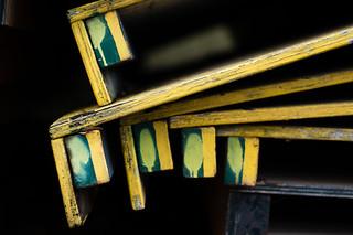 Stacked floorboards detail