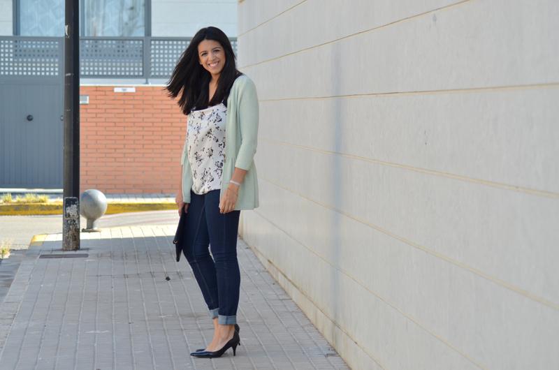 florenciablog working girl mint inspiration fashion blogger spain clutch zara look