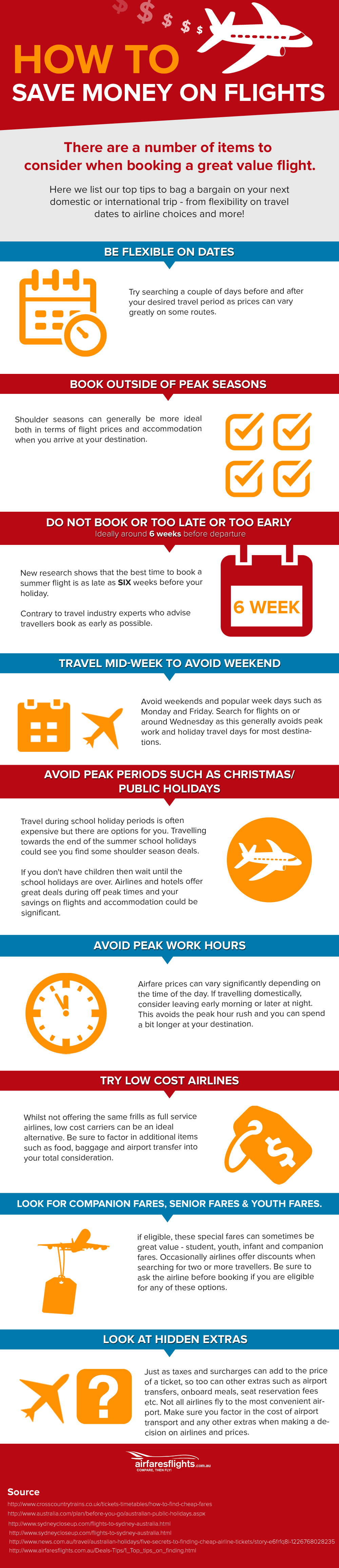 How to book cheap flights [infographic]