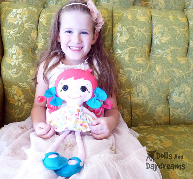 Betsy Buttons Button eye doll sewing pattern