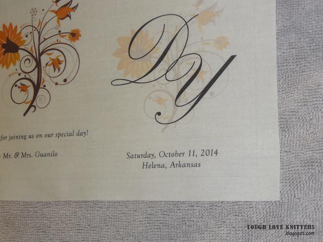 Wedding Handkerchief - Straight Edge