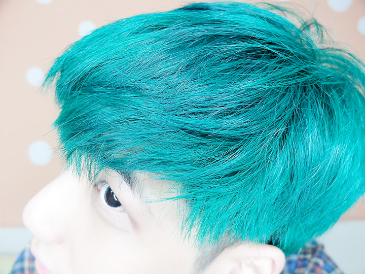 green hair colour