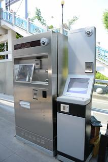 台中BRT車站-購票機與查詢機