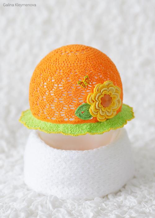 Оранжевая панамка