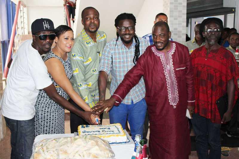 Michael Adjovu's birthday cake