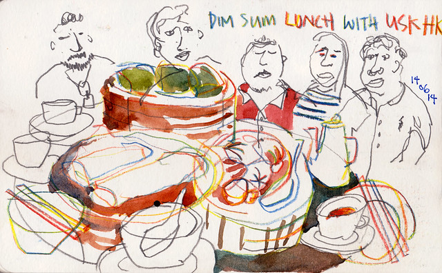 Dim Sum Lunch with USK-HK sketchers