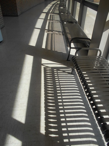 benches and shadows