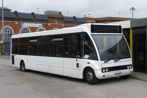 S&S Travel Services, Optare Solo, KX04 HPV Ashton-under-Lyne bus station