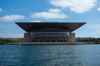 Image of Copenhagen Opera House. architecture copenhagen denmark canal europe cityscape københavn copenhagenoperahouse operaen